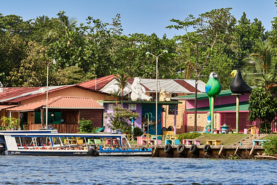 Tortuguero Village, Central; from the Channel