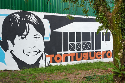Tortuguero Village; Establishing Mural