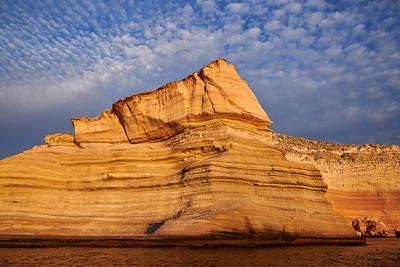 Sandstone Cliff with Clouds