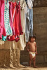 Child with Laundry - M