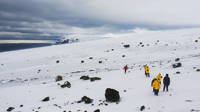 Walking on the Antarctic Peninsula.