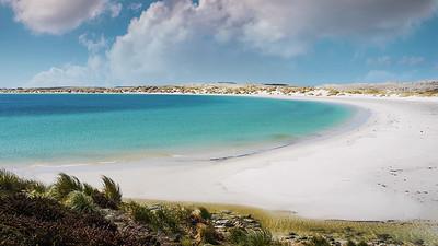 White Sand Beach at Yorke Bay, Falkland Islands