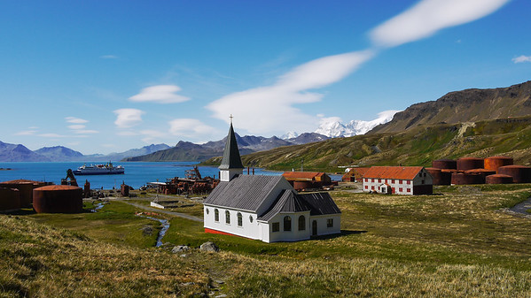 Grytviken, South Georgia Island in the South Atlantic Ocean.