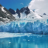 Glacier at the head of Drygalski Fjord, South Georgia Island, South Atlantic Ocean