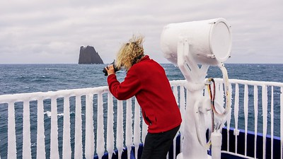 Photographer in Antarctica.
