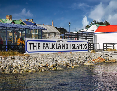 Welcome to the Falkland Islands Sign, Stanley, Falkland Islands