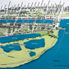 A map of the old port that has been restored.