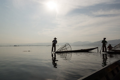 fishermen, Inle Lake, Myanmar