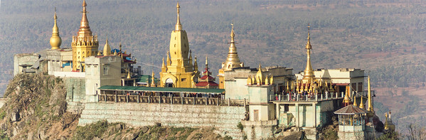Buddhist Monastery on top of Taung Kalat, near Popa Mountain,  Myanmar