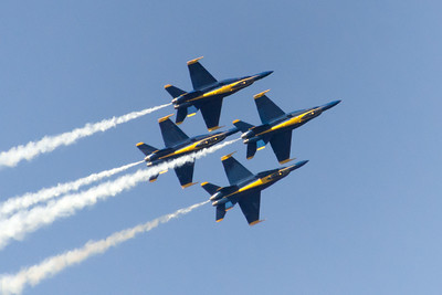 Blue Angels, over Mercer Island, Washington