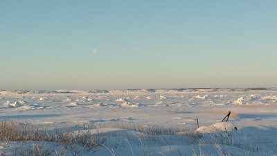 Churchill, Manitoba, Canada...looking out over the Churchill River at the Hudson Bay