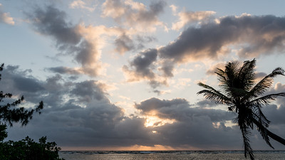Caribbean sunrise, South Water Caye, Belize