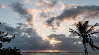 Caribbean sunrise, South Water Caye, Belize