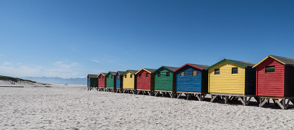 Bathing Boxes, Muizenberg Beach, South Africa