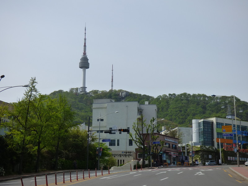on foot towards the cable car station