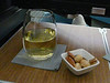 607 Geyser Peak Chardonnay and nuts upper deck Hong Kong-SFO flight
