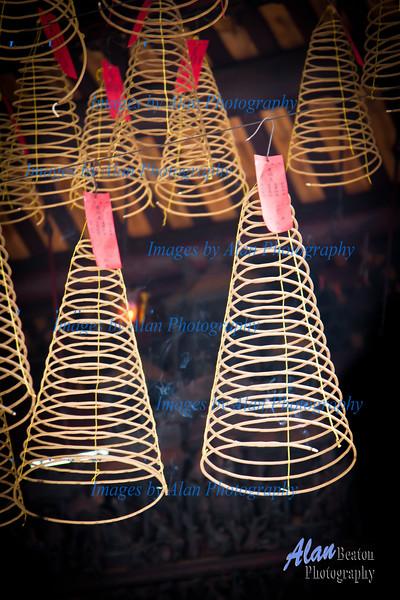 Incense burning coils