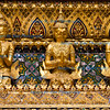 Gilded figures on the temple walls