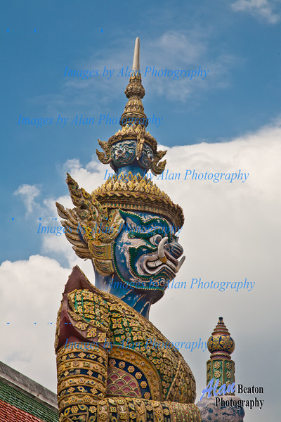 Guardian Figures,  Grand Palace, Temple of the Emerald Buddha, Wat Phra Kaew, Bangkok, Thailand