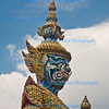 Guardian Figures,  Grand Palace, Temple of the Emerald Buddha, Wat Phra Kaew, Bangkok, Thailand