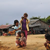 Children waiting to sell things at the dock of the Tonle Sap (or Great Lake) where we embark upon a boat excursion