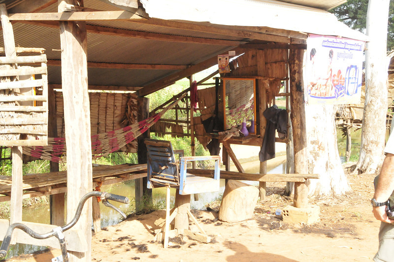 Cambodian country side, outside of Siem Rep - the local country barber shop!