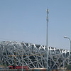 "Beijing: ""The Bird Nest""; still in construction the stadium for the Olympics in 2008."