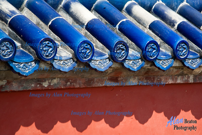 Decorative Roof Tiles, Temple of Heaven, Beijing