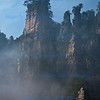 Typical misty scene, on the quartz like pillars, Wulingyuan scenic area, Zhangiajie