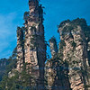 A clear view of  typical quartz pillars, National Forest Park, Wulingyuan scenic area, Zhangiajie