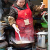 Street cooking in Fenghuang City