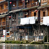 Stilt houses by he Tuojiang River, Fenghuang City