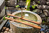 Purification fountain at shrine, Kyoto