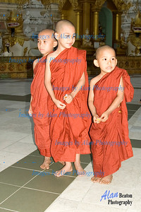 Novice monks in Pagoda