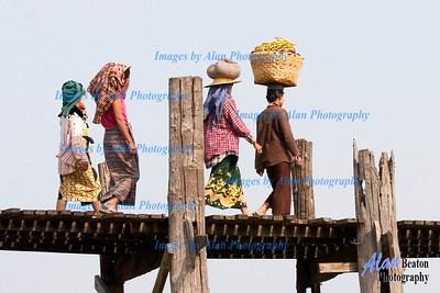 C rossing the U Bein Bridge