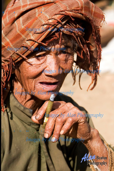 Villager at Taung To market