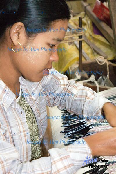 Silk weaving workshop