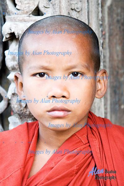 Monk at Shenadaw Monastery