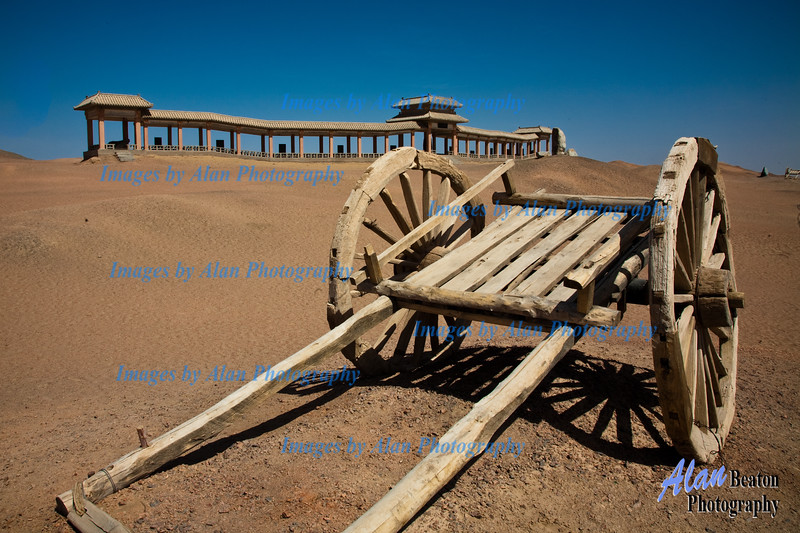 Abandoned Cart Yanguan Pass, Dunhuang