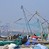 Chinese fishing boats - local fisherman using cantilevered chinese fishing nets - distinctivlely unique to Kochi
