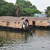 Alleppey in the backwater region of Kerala - houseboad ride
