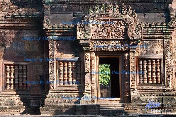 Temple doorway with bas reliefs