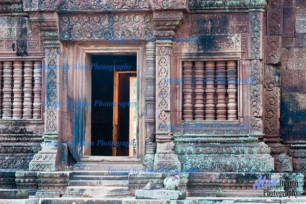 Temple doorway and bas reliefs