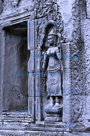 Devastas (minor female deities) by a Corridor  at Ta Prohm