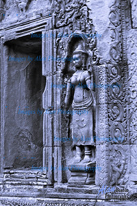 Devastas (minor female deities) by a Corridor  at Ta Prohm