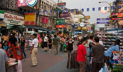 Khao San Road, the heart of Bangkok's backpacker ghetto
