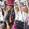 Visit to the hill tribes near Chiang Mai - Akha tribe village people and costumes