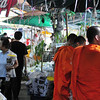 Bangkok street scenes - Monks at the Flower market