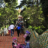 Wat Phranthad Doi Suthep - erected in 1384 - considered Northern Thailand's most sacred temple - entrance stairs