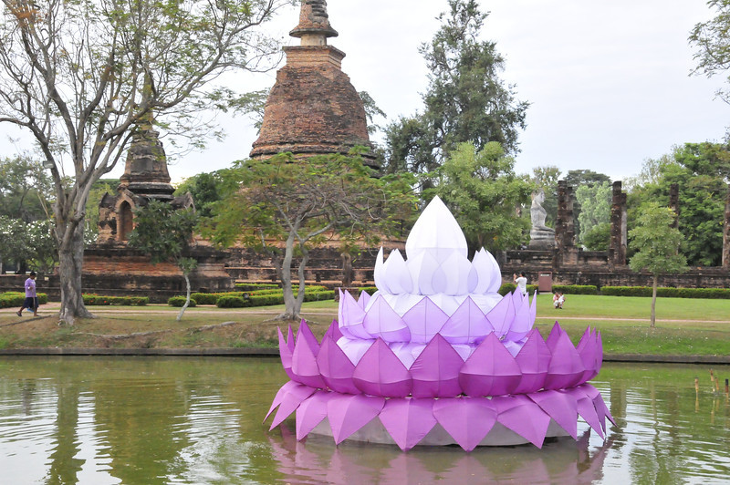 Sukhothai  - getting read for the upcoming festival.